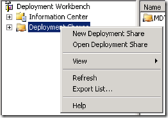 New Deployment Share
